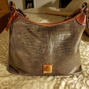 Dooney and Bourke Lizard Embossed Leather Hobo